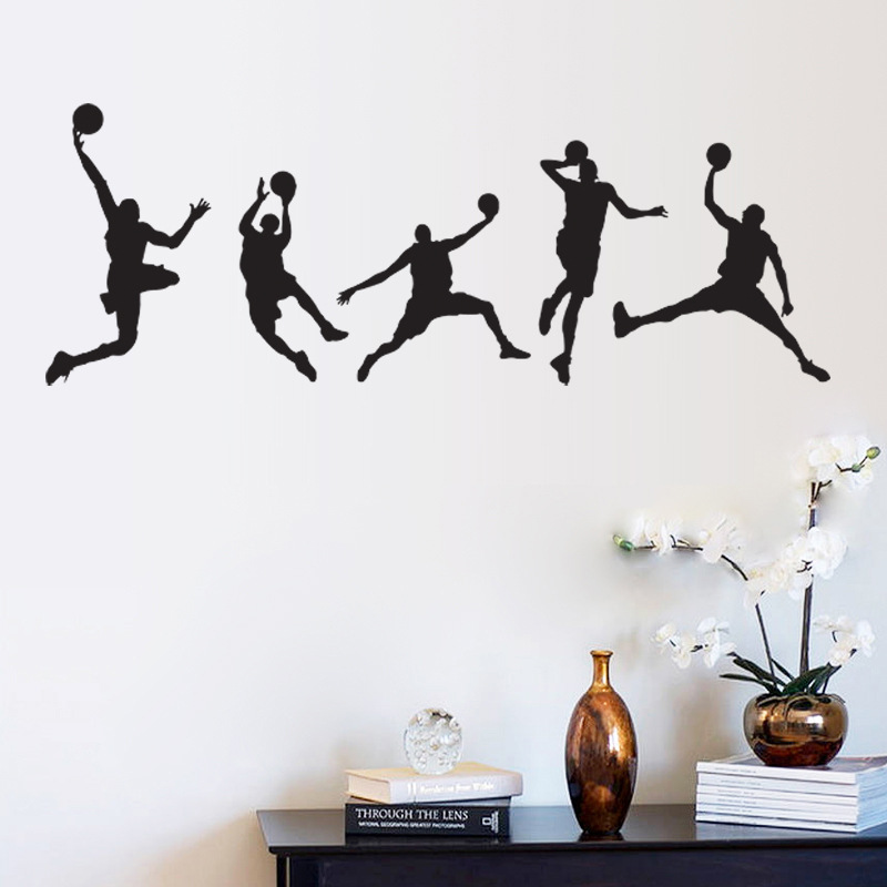 Home Decor Mural Art Wall Paper Stickers ~ Hot wall stickers home decor basketball sport wallpaper