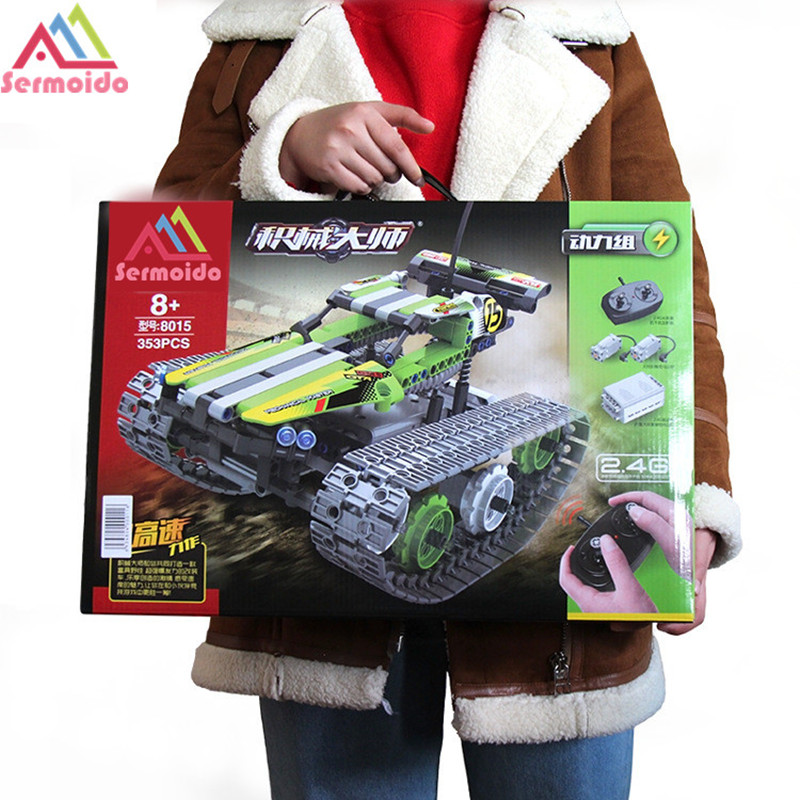 <font><b>Legoing</b></font> Technic Series <font><b>42065</b></font> 397pcs RC Track Remote-control Race Car Model building blocks Bricks toys for children Gift DBP337 image