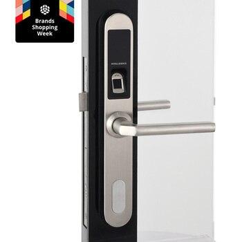 Fingerprint Door Lock Waterproof Stainless Steel Electronic Door Lock for Aluminum Glass Gate Door with European Mortise