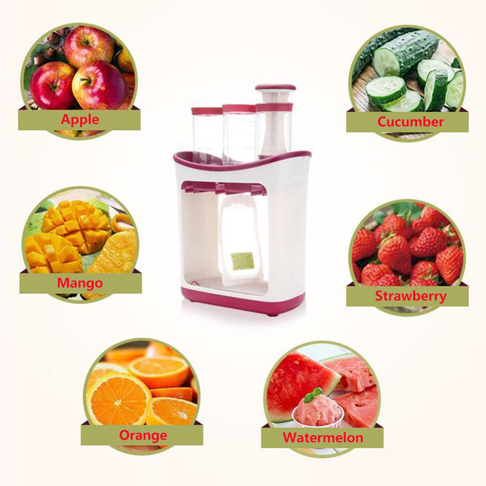 Baby Food Maker Baby Feeding Containers Storage Supplies Newborn Toddler Solid Food pouche Fresh Squeezed Fruit Juice #281642 4