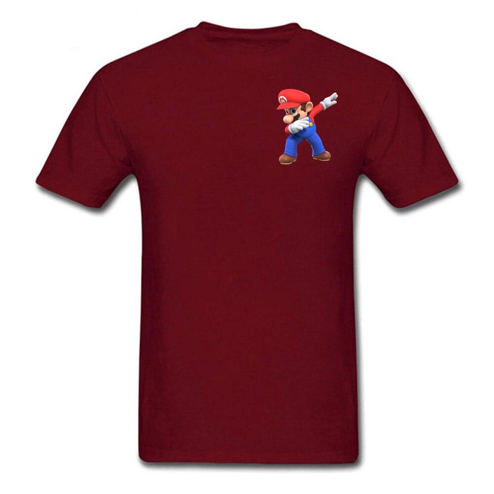 2018 Men T Shirts 3D Tshirt Super Mario Bros T Shirt Funny Dabbing Mario Printed Clothes Summer Black Tops Cotton Tees Wholesale in T Shirts from Men 39 s Clothing