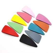 New Women Matte Color Cream Triangle Hair Clip Geometric Simple Solid Accessories Hairpins