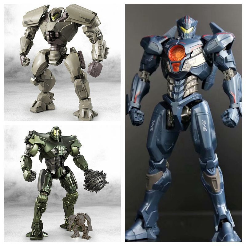 NECA Pacific Rim Jaeger Gipsy Danger Hong Kong Brawl / Anchorage Attack / Battle Damage PVC Action Figure Model Doll Kids Toys