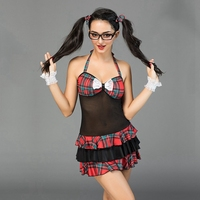 JSY Porn sexy lingerie school girl costume for role playing games schoolgirl sex suits naughty role play dress for party 6930