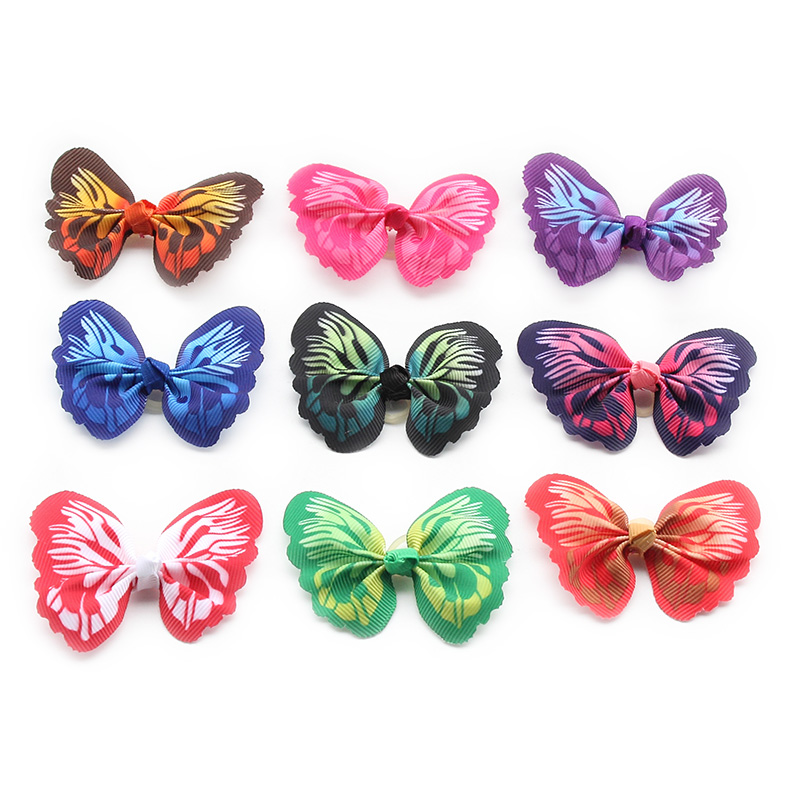 Armi store Handmade Butterfly shaped Dog Bow Dogs Hair Flower Bows 6029022 font b Pet b