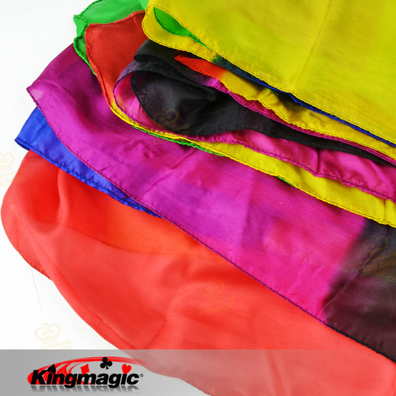 Rainbow Silk Streamer 45cm * 1000cm King Magic Scarves Blommande 22Large Layer Props Stage Magia Tricks Trollkarl Profession Leksaker