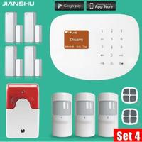 WIFI App Control PIR Motion Detector Alarm Wireless Home Led Flash Light Siren Security Burglar Alarm