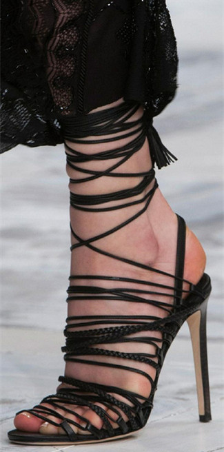 2017 gladiator lace up women sandals Tassel high heels shoes woman Summer zapatos mujer crossed-tied tenis feminino