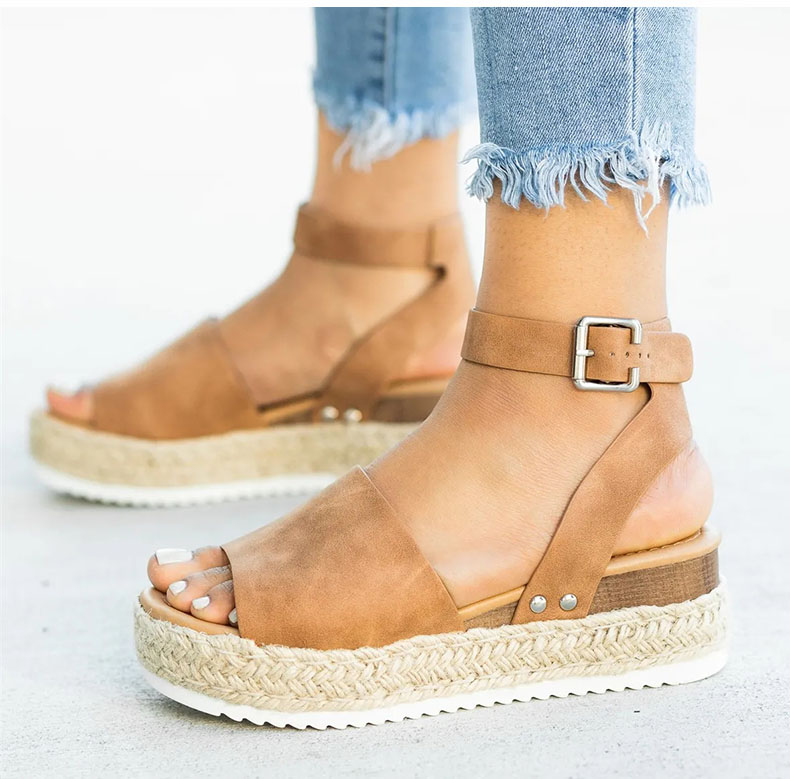 LASPERAL Wedges Shoes Women  Heels Sandals Torridity Shoes 2019  Chaussures   Sandals 2019 big toe sandal