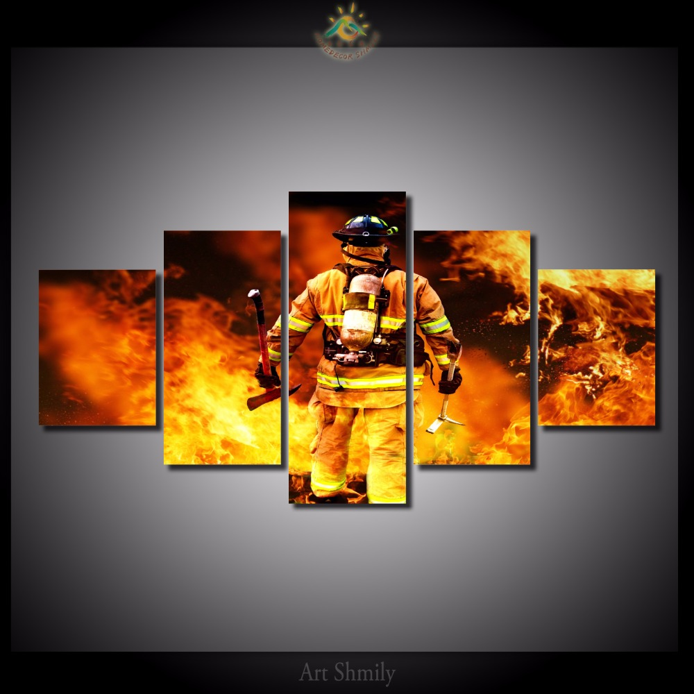 Firefighter Wall Art compare prices on fireman wall art- online shopping/buy low price