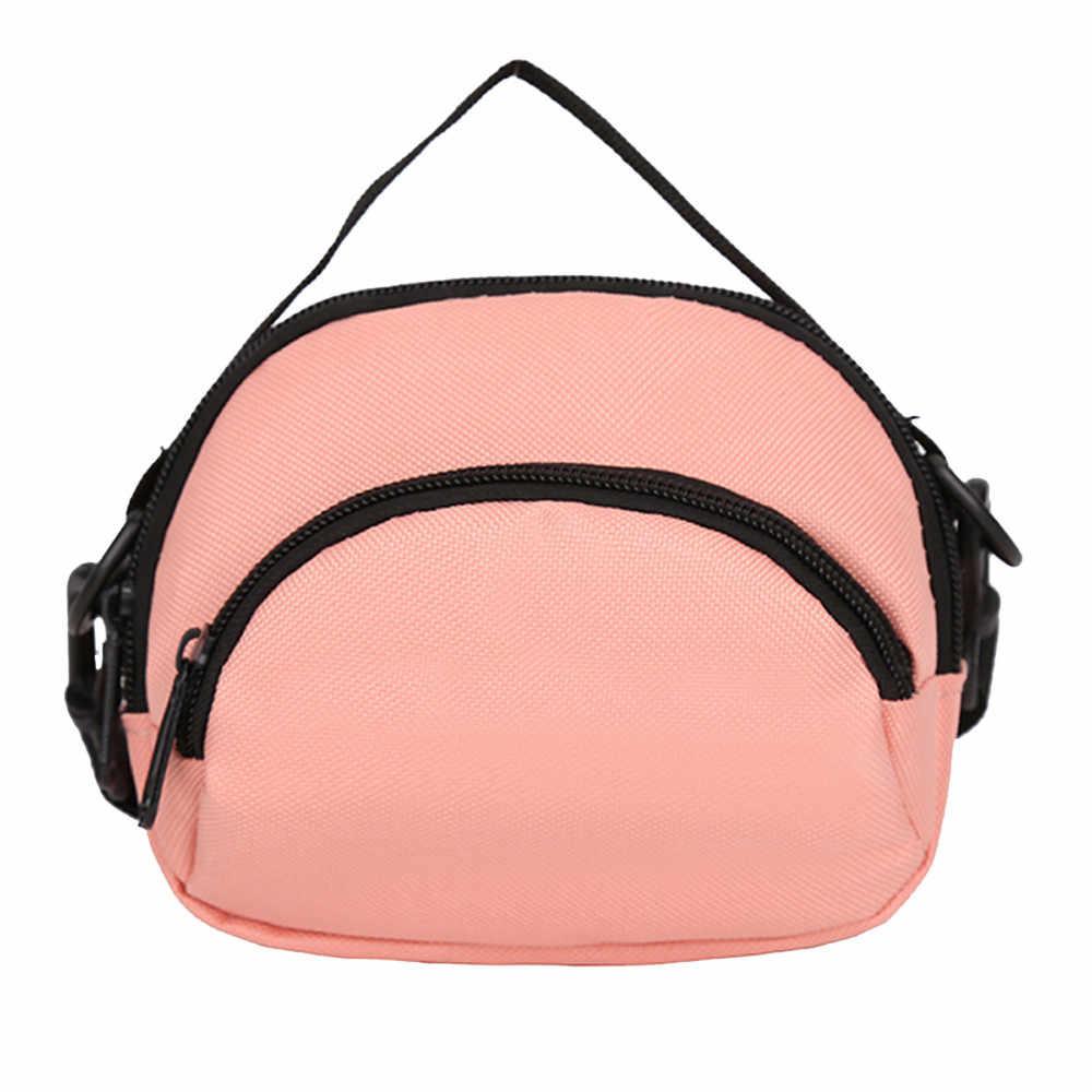 Mulheres de Nylon Saco de Ombro Pure Color Zipper Crossbody Telefone Sacos de Mão bolsa feminina pochette femme soir e 2019