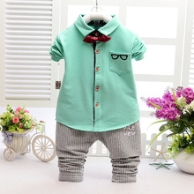 2016 Spring/Autumn Kids Gentleman Boy Clothing Set Formal Fashion Clothes Clothing Shirt + Pants Baby Boy Formal Coat 0-5 ages