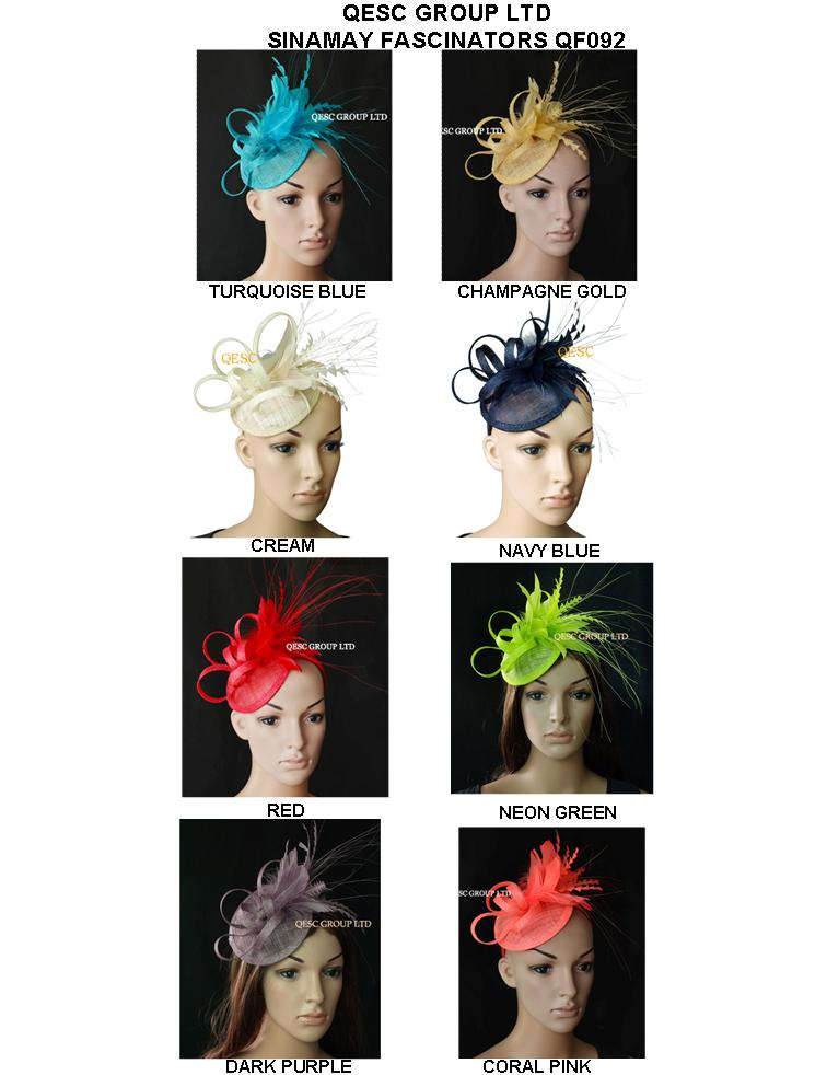 Arrival sinamay feather women's hat bridal fascinator hair accessory for Kentucky derby and wedding party Races.FREE SHIPPING