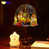Tiffany Art Water Lily Table Lamp Classic Tiffany Stained Glass Table Lamp Home Decor Living Room