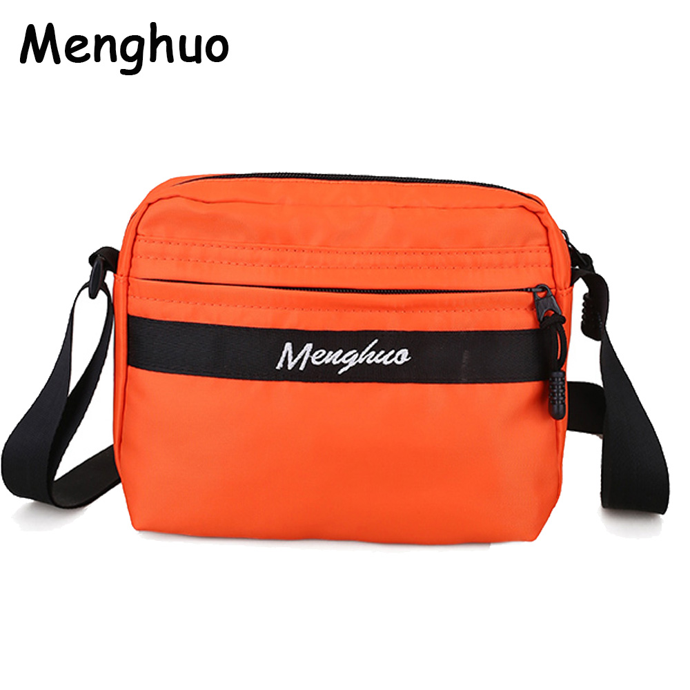 Menghuo Waterproof Nylon Women Messenger Bags Small Purse Shoulder Bag Female Crossbody Bags Handbags High Quality Bolsa Tote 2018 women messenger bags vintage cross body shoulder purse women bag bolsa feminina handbag bags custom picture bags purse tote