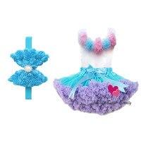 2013 Free Shipping four colors chiffon ruffle baby princess pettiskirt set baby tutu children clothing set