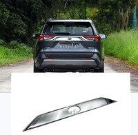 High Quality ABS Chromed Rear Trunk Streamer Gate Trim For Toyota RAV4 2019 2020 Car Accessories|Chromium Styling|   -