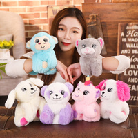 cute-soft-plush-animal-bracelet-creative-love-doll-stuffed-unicorn-bear-dog-monkey-small-toys-for-children-lovers-birthday-gift