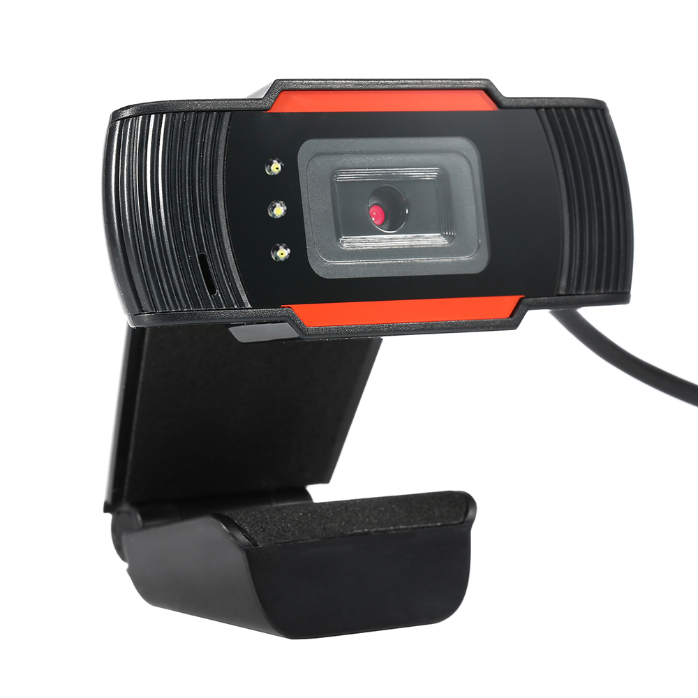 HD 12 Megapixels USB Webcam Computer Camera with Mic and LED Lights for Night Use for Desktop Laptop PC Network Video CX07