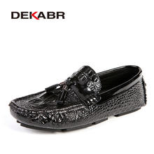 DEKABR Brand Men Shoes New Summer Breathable Comfortable Men Loafers Luxury Flats Men Casual Shoes Soft Moccasins Big Size 37~47(China)