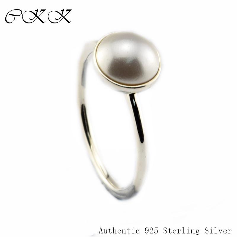 White Crystal Pearl Ring 100% 925 Sterling Silver Luminous Droplet Rings for Women DIY Fine Jewelry  PFR101White Crystal Pearl Ring 100% 925 Sterling Silver Luminous Droplet Rings for Women DIY Fine Jewelry  PFR101