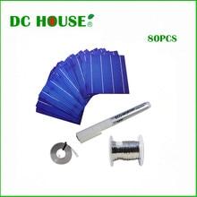Hot 80pcs 6×6 Poly Solar Cells Tabbing Wire +Flux Pen +Bus Wire for DIY Solar Panels 156mm Polycrystalline Solar Cell Sunpower