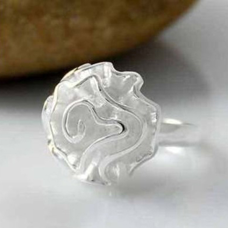 Wholesale 925 jewelry silver plated ring, silver plated fashion jewelry, Rose Ring /anhajeoa auzajmga