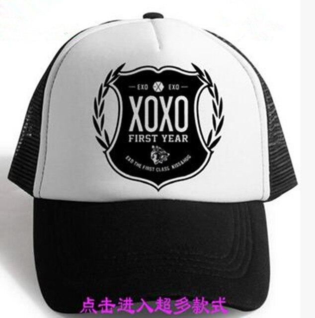 1b8e76bcdaf 2017 new exo kpop Unisex Various styles flat peaked cap hat k-pop exo Vogue  Adjustable Snapbacks Caps Korean Tide Chapeu Goods