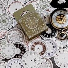 46 Pcs/box Since filling clock paper sticker DIY decoration stickers diary photo album scrapbooking planner label