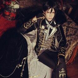 [ Free DHL ] 2018 Black Butler Sun Awake Anime Sebastian Uniform Cosplay Costume Yume 100 Halloween costume S-L Size STOCK New. 2