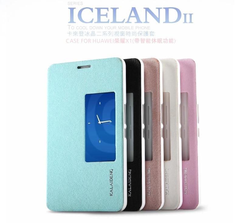 Цена за Для Huawei X1 случае Оригинал KALAIDENG Исландия Серия Флип кожаный чехол для Huawei Honor X1 MediaPad X1, Розничная Продажа + Бесплатная доставка
