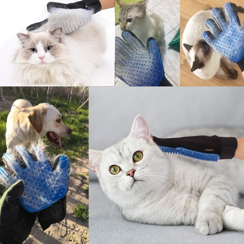 HTB1mGQ9TAvoK1RjSZFDq6xY3pXah Pet Glove Cat Grooming Glove Cat Hair Deshedding Brush Gloves Dog Comb for Cats Bath Clean Massage Hair Remover Brush