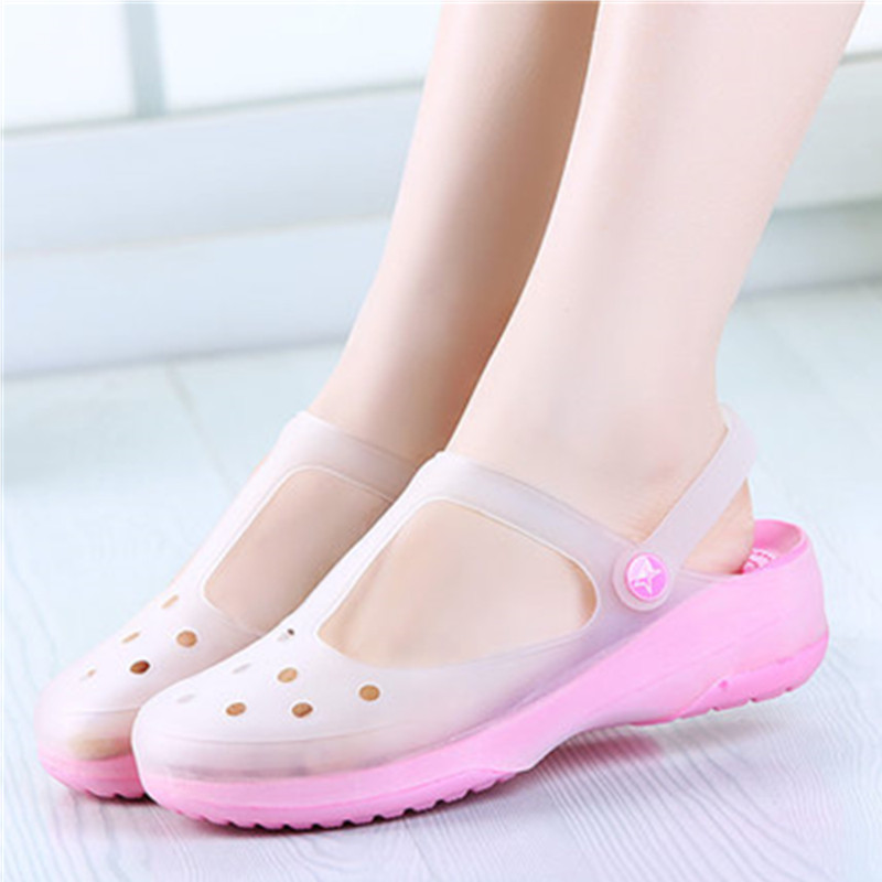 Beach-Sandals Comfortable Shoes-Size Fashion Summer Women Blue Pink Color 39 38 35 36-37