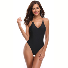 Swimsuit 2019 Mujer Swimwear Sexy One-Piece Solid Monokini Women One Piece Beachwear Bathing Suit
