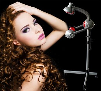 Hairdressing equipment infrared ray five - head lamp vertical solar lamp baking head lamp heating heater.
