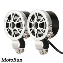 Mini Amplifier Motorcycle Radio MP3 Handlebar Mount Speakers Fit Harley Cruisers