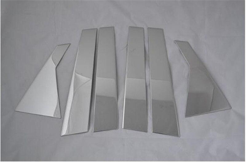 Pour NISSAN QASHQAI J10 2008-2013 fenêtre CHROME pilier poste couverture moulure de garnissage garniture ACCENT style accessoires