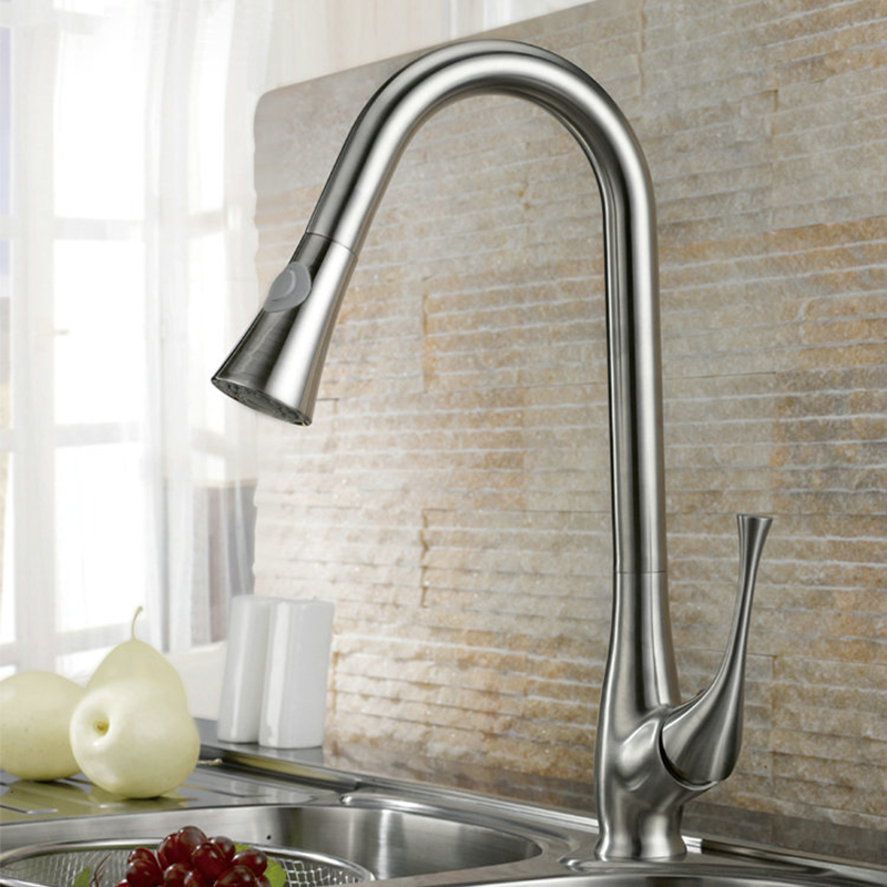 Newly Kitchen Sink Basin Faucet Basin Nickle Brushed Mixer Tap Faucet JN8527 1