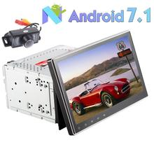 "10.1"" Android 7.1 Car Stereo 2 Din Free Reverse Camera casssette cd DVD Player GPS WIFI USB SD Support 3G 4G OBD2 front camera"