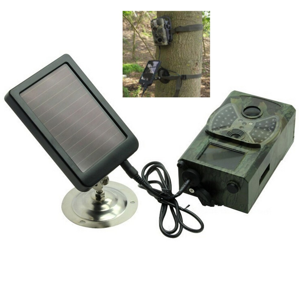 Solar Panel Charger Hunting Trail Camera Chargers For Only Suntek HC800A HC801A <font><b>HC800M</b></font> HC801M HC800G HC801G HC800LTE HC801LTE image