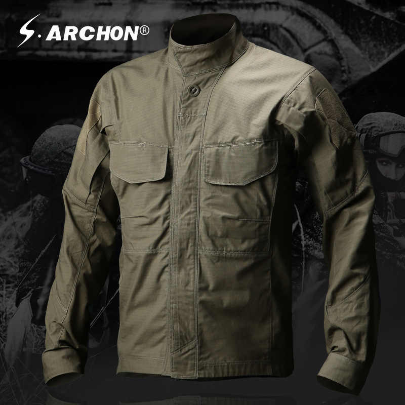 New Army Military Style Tactical Shirt Men Teflon Nylon Breathable Male Casual Clothing Long Sleeve SWAT Combat Army Shirts
