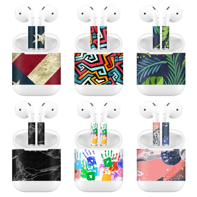 New Release Protective Vinyl Sticker Earphone For Apple AirPods Skins Removable Adhesive Decorative Decal Wrap Head Film