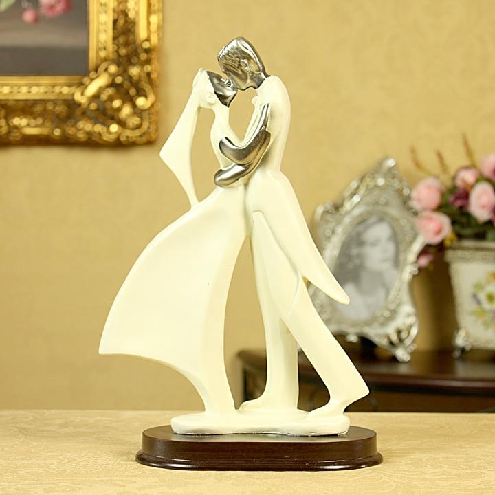 European Wedding Cake Topper Couple Romantic Groom Bride ...