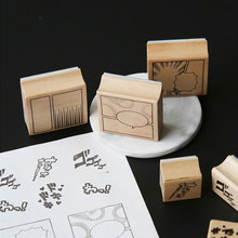 цена на Cartoonist series wood stamp DIY craft wooden rubber stamps for scrapbooking stationery scrapbooking standard stamp