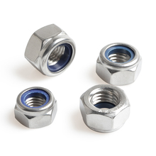 Nylon Lock Nuts Metric Hexagon Threaded Nut 304 Stainless Steel M2 M2.5 M3 M4 M5 M6 M8 M10 M12 M14 M16 M18 M20 M24 qintides m14 m16 m18 m20 m22 m24 hexagon domed cap nuts 304 stainless steel acorn nuts ball head cap nut