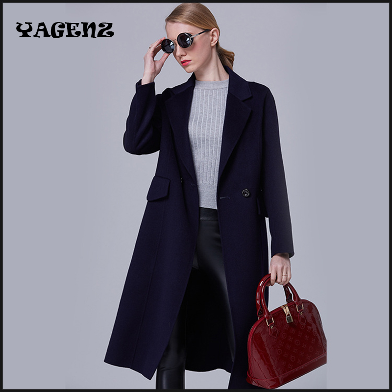 Women Casual   Trench   Coat   Trench   With Good Quality Plus Size Long Woolen 2017 Winter Casual   Trench  ,woolen coat for women   Trench