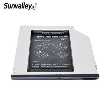 Sunvalley 2nd HDD Caddy 9.5mm SATA Naar SATA Aluminium SSD Drive Case DVD CD-ROM Case Voor Dell E6400 Laptop notebook