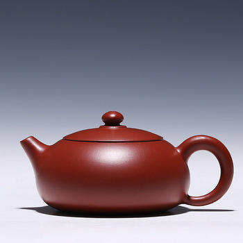 Flat beauty pot about 140CC authentic Yixing famous health teapot Dahongpao red clay ore POT H2015