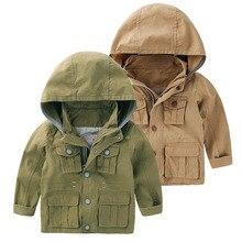 2017 Spring Autumn Boys Jackets Hooded Kids Windbreaker Zipper Boy Jackets & Coats Children Outwear Trench Coats