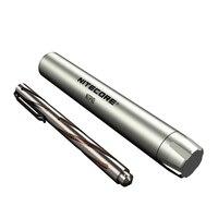 Nitecore ntp10 Титан тактическая ручка полые жаждал боди с вольфрама зауженные strikeing точка самообороны инструмент
